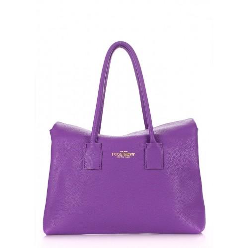 Женская кожаная сумка PoolParty Sense Violet