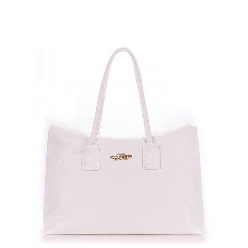 Женская кожаная сумка PoolParty Sense White