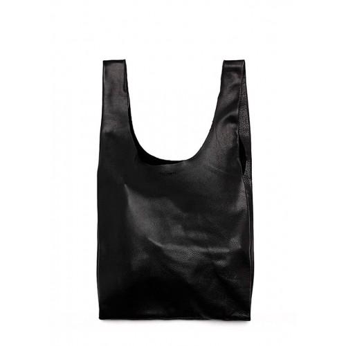 Женская кожаная сумка PoolParty Tote Black