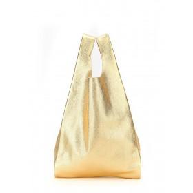 Кожаная сумка PoolParty Tote Gold