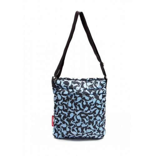 Стеганая дутая сумка-планшет PoolParty Rabbits Blue