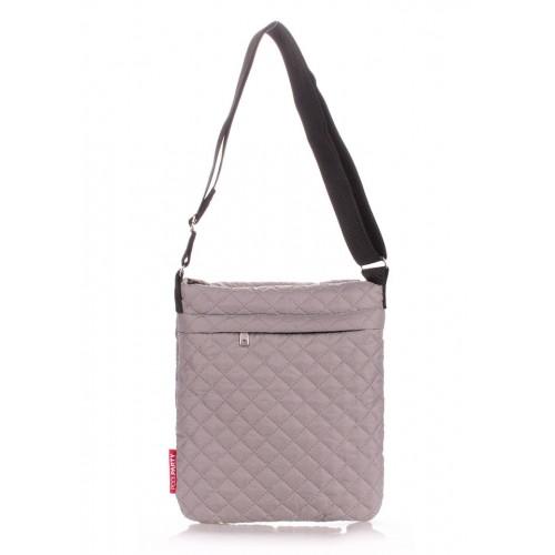Стеганая дутая сумка-планшет PoolParty Eco Grey