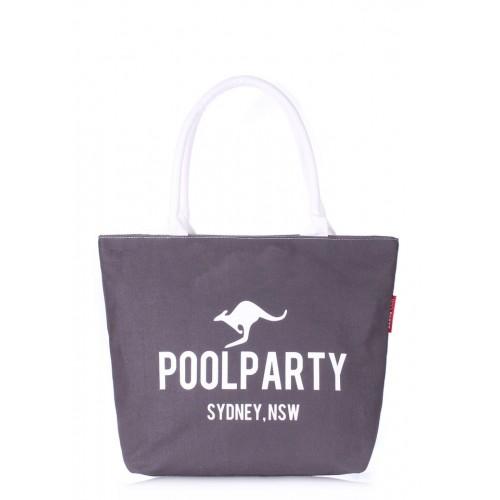 Текстильная сумка PoolParty Kangaroo Classic Grey