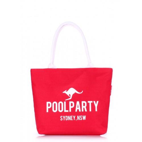 Текстильная сумка PoolParty Kangaroo Classic Red