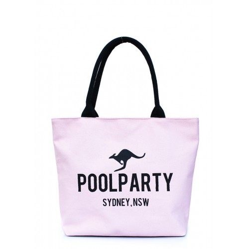 Текстильная сумка PoolParty Kangaroo Classic Rose