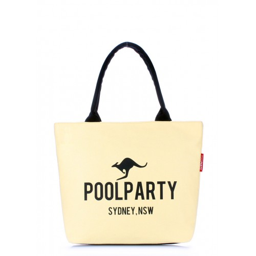 Текстильная сумка PoolParty Kangaroo Classic Yellow