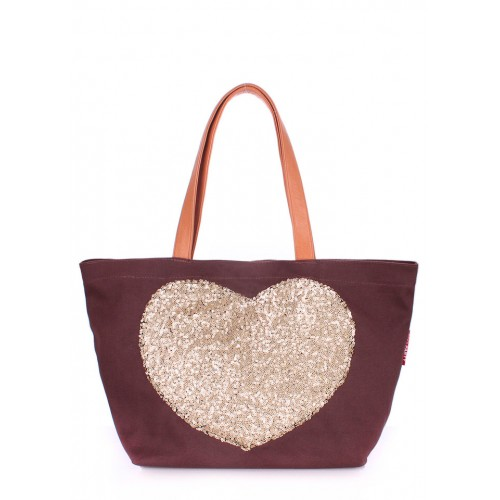 Текстильная сумка PoolParty Love Tote Brown