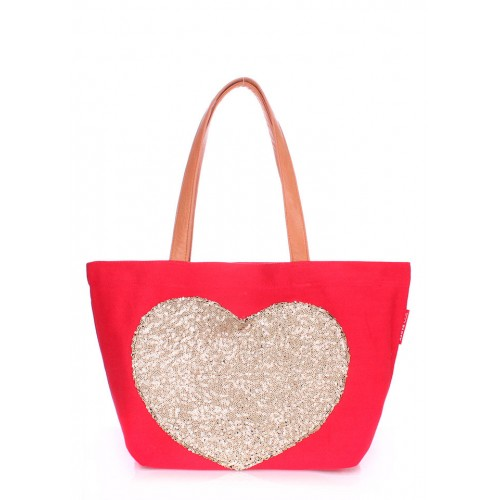 Текстильная сумка PoolParty Love Tote Red
