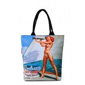 Женская сумка PoolParty Printed Navy Chicks