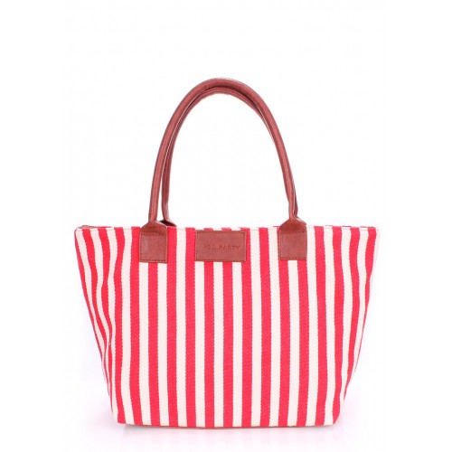 Текстильная сумка PoolParty Navy Tote Red