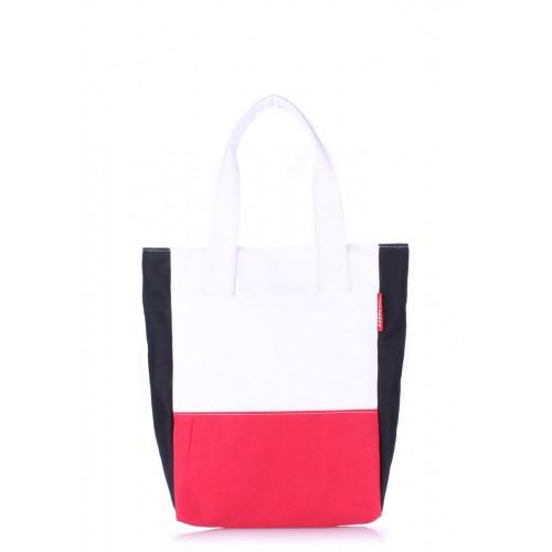 Текстильная сумка PoolParty Triplex White Red