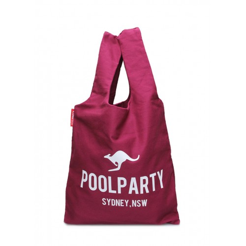 Текстильная сумка PoolParty Kangaroo Tote Bordo