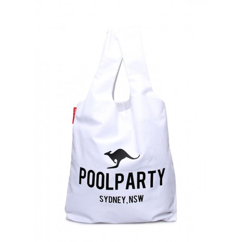 Текстильная сумка PoolParty Kangaroo Tote White
