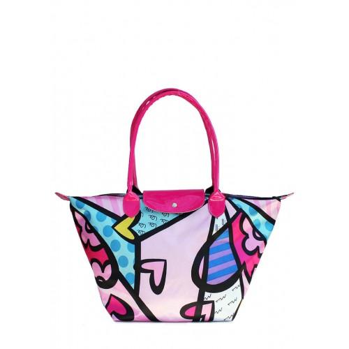 Текстильная сумка PoolParty Blossom Blue Pink