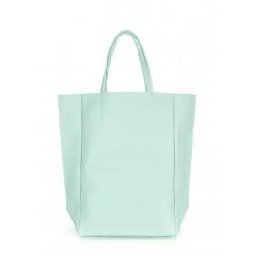 Кожаная сумка PoolParty Big Soho Bag Aqua