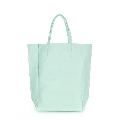 Кожаная сумка PoolParty Big Soho Bag Aqua