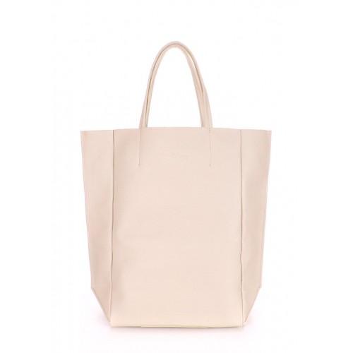 Женская кожаная сумка PoolParty Big Soho Bag Beige