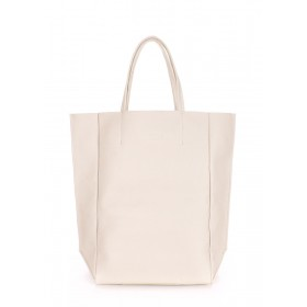 Кожаная сумка PoolParty Big Soho Bag Cream