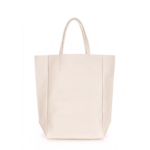 Женская кожаная сумка PoolParty Big Soho Bag Cream