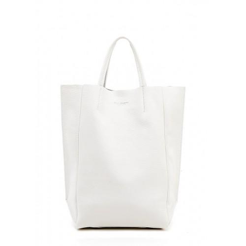 Женская кожаная сумка PoolParty Big Soho Bag White