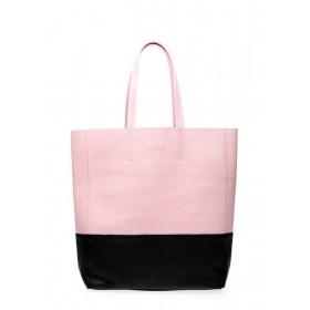 Кожаная сумка PoolParty City Bag Rose Black