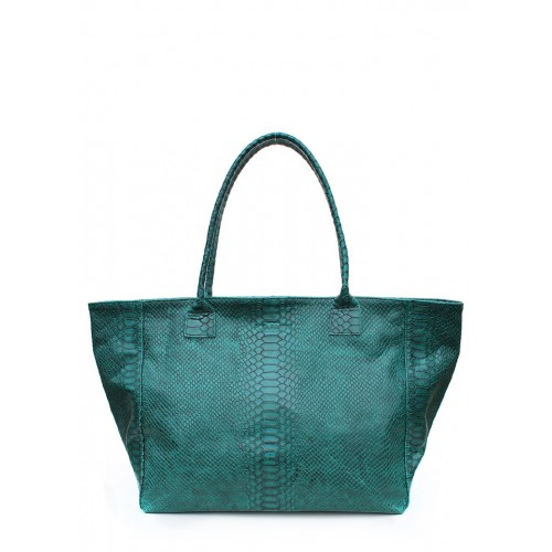 Кожаная сумка PoolParty Desire Bag Snake Green