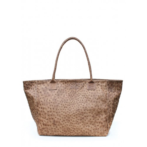 Кожаная сумка PoolParty Desire Bag Struzzo Beige