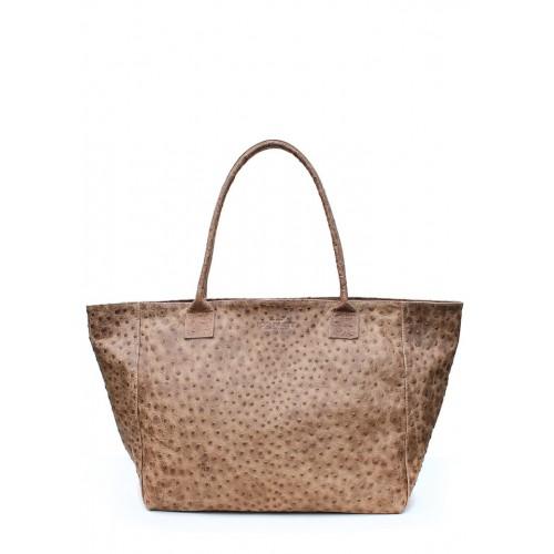 Женская кожаная сумка PoolParty Desire Bag Struzzo Beige