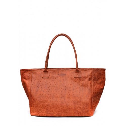Женская кожаная сумка PoolParty Desire Bag Struzzo Orange