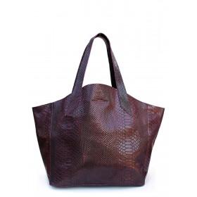 Кожаная сумка PoolParty Fiore Snake Bag Bordo