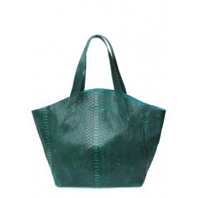 Кожаная сумка PoolParty Fiore Snake Bag Green
