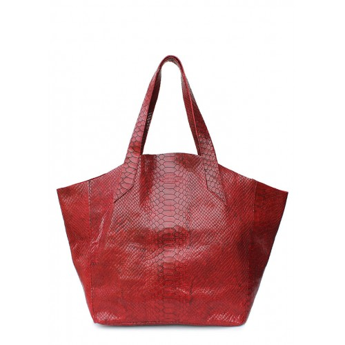 Кожаная сумка PoolParty Fiore Snake Bag Red