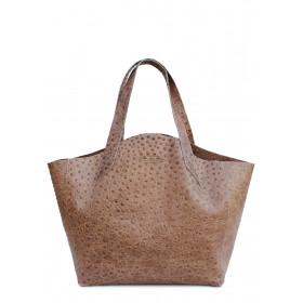 Кожаная сумка PoolParty Fiore Struzzo Bag Beige