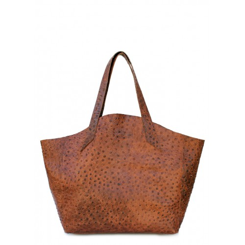 Кожаная сумка PoolParty Fiore Struzzo Bag Brown