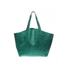 Кожаная сумка PoolParty Fiore Struzzo Bag Green
