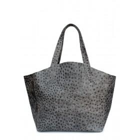 Кожаная сумка PoolParty Fiore Struzzo Bag Grey
