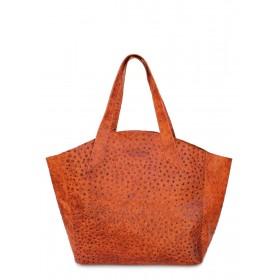 Кожаная сумка PoolParty Fiore Struzzo Bag Orange