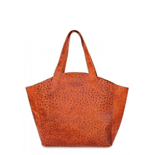 Кожаная сумка PoolParty Fiore Struzzo Bag Orange