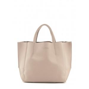 Кожаная сумка PoolParty Soho Bag Beige