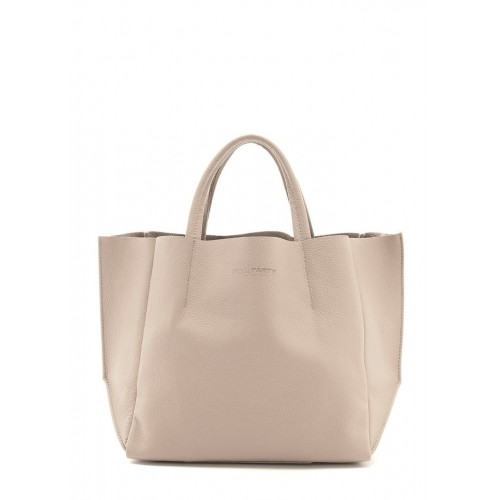 Женская кожаная сумка PoolParty Soho Bag Beige