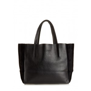 Кожаная сумка PoolParty Soho Bag Black Velour