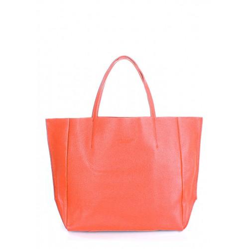 Женская кожаная сумка PoolParty Soho Bag Coral