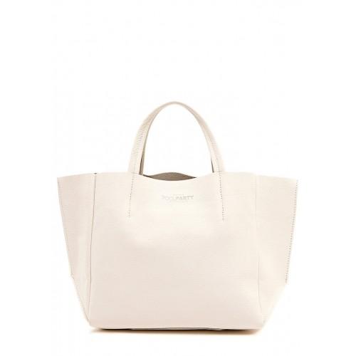 Женская кожаная сумка PoolParty Soho Bag Cream