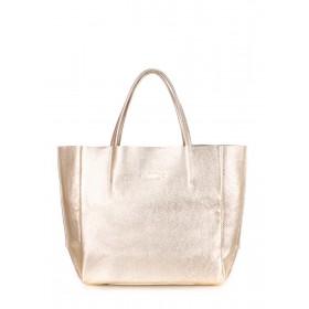 Кожаная сумка PoolParty Soho Bag Gold
