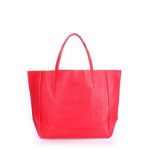 Женская кожаная сумка PoolParty Soho Bag Red