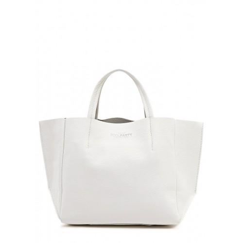 Женская кожаная сумка PoolParty Soho Bag White