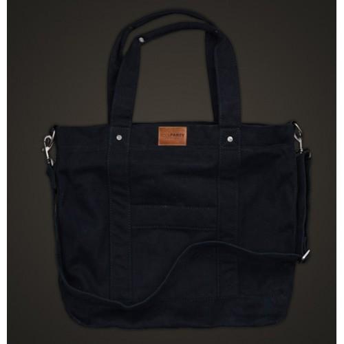 Стеганая дутая сумка PoolParty Cotton Black