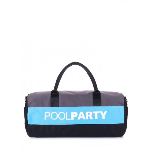 Спортивная сумка PoolParty Sport Grey Blue Black