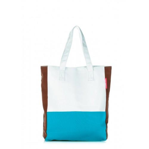 Текстильная сумка PoolParty Triplex White Blue