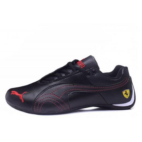 Puma Ferrari Low Black Red мужские кроссовки